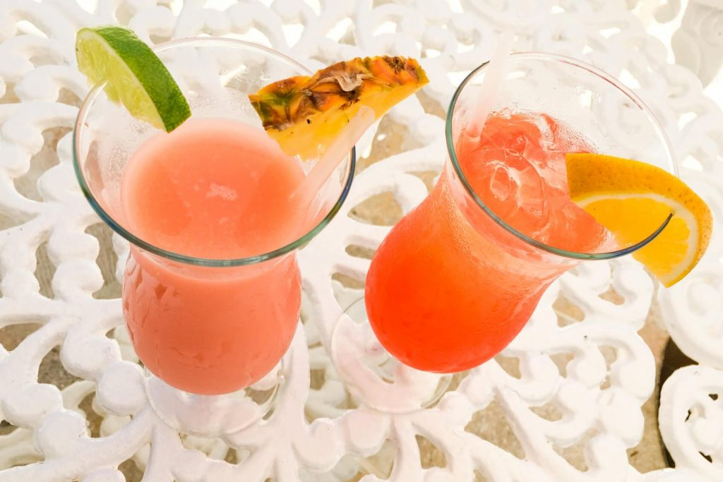 Tropical fruit cocktail juice